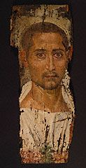 Mummy Portrait of a Bearded Man, Romano-Egyptian, Egypt, about A.D. 225-250