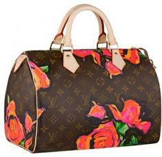 Louis Vuitton Speedy 35 Monogram Roses Canvas M41520