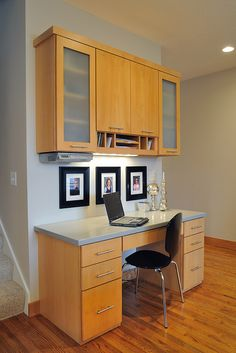 Contemporary kitchen office space