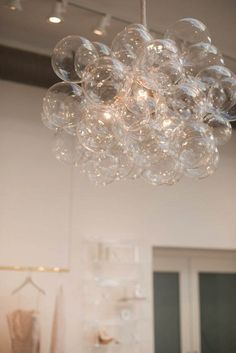 The 45 Bubble Chandelier Bubble Light Dining Room Chandelier LED Lighting Ceiling Light Custom Chandelier - Cloud Hosting - Chandelier Bulle, Bubble Chandelier, Chandelier Lighting, Chandelier Ideas, Circular Chandelier, Foyer Chandelier, Pendant Lights, Room Lights, Ceiling Lights