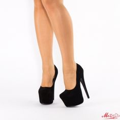 Pantofi cu Toc si Platforma Stiletto Heels, Shoes, Black, Fashion, Moda, Zapatos, Shoes Outlet, Black People, Fashion Styles