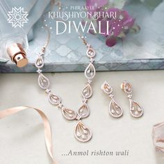 💎 Diamond Necklace Simple, Small Necklace, Jewelry Necklaces, Bracelets, Rose Gold Jewelry, Diamond Jewelry, Diamond Mangalsutra, Diamond Pendant, Manubhai Jewellers