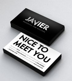 """Here is my card"", that is what I say when I give it to someone. It is usually the first touch point I have with potential clients, and only chance to make a good first impression.  I love when people say, ""Nice card, I'll contact you soon."""