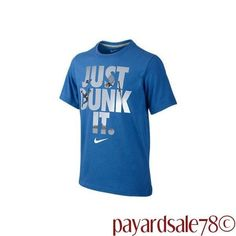 """MEN'S NIKE JUST DO IT """" JUST DUNK IT """" BLUE GRAPHIC T-SHIRT SIZE XL #Nike #GraphicTee"""
