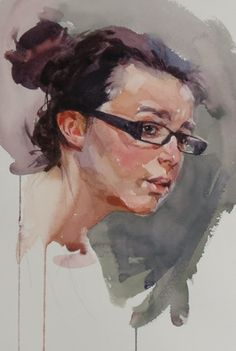 Patricia Castelao (watercolor painting)