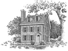Eplans Adam - Federal House Plan - Colonial Charm - 2598 Square Feet and 2 Bedrooms from Eplans - House Plan Code HWEPL03342