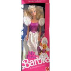 Barbie  90s Barbie doll ...My First Barbie Doll   My friends & I loved playing Barbie   My First Barbie Doll - Prettiest Princess Ever! (1989 Mattel Hawthorne) - Product Reviews and Prices - Shopping.com