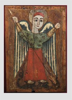 Archangel Michael / Arcángel San Miguel // Egypt, Coptic art of the c // Byzantine and Christian Museum, Athens Religious Images, Religious Icons, Religious Art, Byzantine Icons, Byzantine Art, Kunst Online, Archangel Michael, Arte Popular, Orthodox Icons