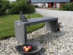 Trädgårdsbänk Klammer, svartpigm.