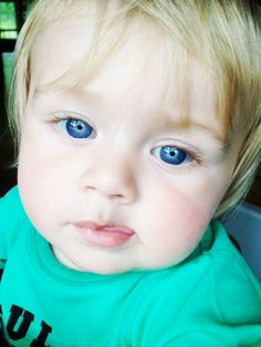 Theo is so adorable!!!! Look at his eyes! He is going to be a ladies man like his uncle