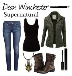 """Dean Winchester"" by cassastrophic ❤ liked on Polyvore featuring VILA, H&M, J.TOMSON, Dirty Laundry, Isadora and supernatural"