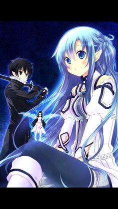 Kirito Kirigaya, Kirito Asuna, Tous Les Anime, Otaku, Sword Art Online Kirito, Blue Anime, Anime Eyes, Cute Anime Couples, Aesthetic Backgrounds