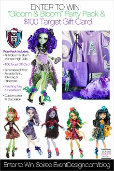 | Monster High Party – Gloom and Bloom featuring Amanita Nightshade Giveaway | http://soiree-eventdesign.com