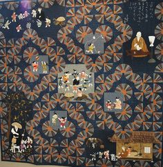 Quilt with fans and scenes of Japan, Tokyo International quilt festival 2011