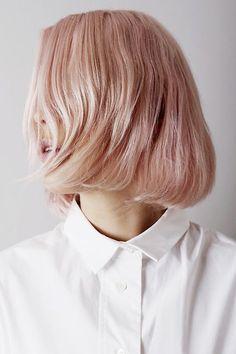 pastel pink bob hairstyle
