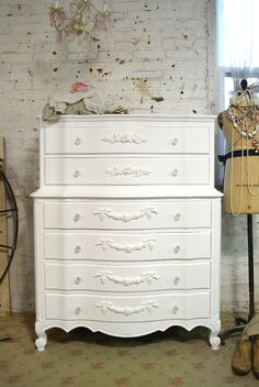 Painted Cottage Chic Shabby French Dresser by paintedcottages