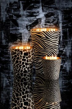 Powerful safari candles from the collection Animal Print Furniture, Animal Print Decor, Animal Prints, Animal Print Bedroom, Bougie Baobab, Afro Chic, African Theme, African Home Decor, Luxury Candles