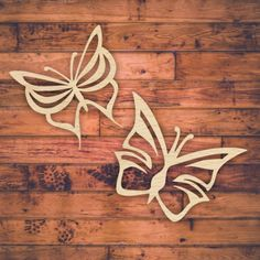 Set of 2 laser cut butterfly patterns for sale.  Buy this template, design, pattern. This beautiful butterflies can be laser cut, scroll saw, hand cut or CNC router. It can be use from interior design decor, wall art, kids decor, invites, coasters, mothers day gift, birthday present or add to your product catalog.  Cut out of wood, paper, hardboard, Perspex &#174 acrylic.  Download VECTOR file PDF, AI, EPS, SVG, CDR x4. Use your favorite editing program to scale this vector to any size. ...