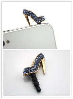 Nine States Diamond Bling Sexy High-heel Shoe Design 3.5mm Anti-Dust Earphone Jack Plug Charm for Apple iphone5 iphone4/4S itouch4 itouch5 and Samsung Galaxy S2/S3/S4 Note Note2 Sony HTC Blackberry Color Varies(purple) by Nine States, http://www.amazon.com/dp/B00E6M1FYS/ref=cm_sw_r_pi_dp_HYz-rb045JJQK