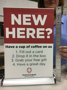 Not the free coffee, but potentially a welcome gift for turning in info?