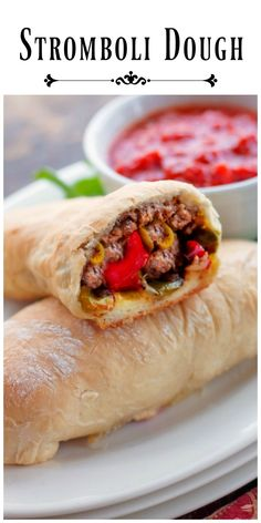 French Delicacies Essentials - Some Uncomplicated Strategies For Newbies Stromboli Dough.This Dough Is An Absolute Dream To Work With. Make Your Own Stromboli With Your Families Favorite Fillings. Pizza Recipes, Easy Dinner Recipes, New Recipes, Bread Recipes, Cooking Recipes, Favorite Recipes, Meatball Recipes, Copycat Recipes, Stromboli Dough Recipe