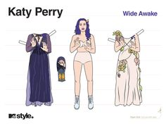 Katy Perry Wide Awake Paper Doll