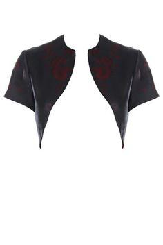 Black shrug, short sleeves