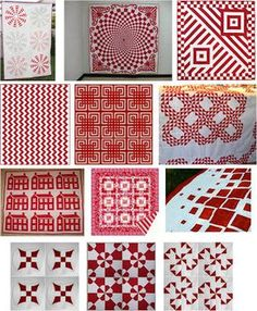 red & white quilt pattern linky