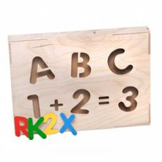 Lockable box with cut-out shapes and 80 painted elements for children to learn how to count and write. Made by Neo-Spiro.