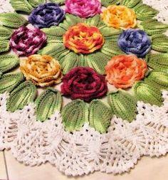 tapete-de-barbante-circular-flores