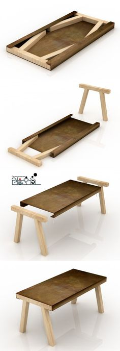 flat pack table. This would be great for craft fairs you need to bring your own table to.