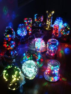 glittery and pretty.  I would love these in our music room.