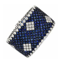 Shop dover jewelry on for a unique selection of authentic pieces. Find one-of-a-kind pieces and more from dover jewelry. Sapphire And Diamond Band, Best Diamond, Sapphire Jewelry, Diamond Flower, Blue Sapphire, Diamond Jewelry, Diamond Bracelets, Jewelry Bracelets, Jewellery