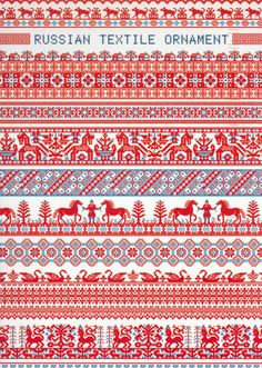 Folk Embroidery Ideas One of the traditional Russian embroidery patterns - Russian Fav. tag from Lukka Russian Embroidery, Folk Embroidery, Cross Stitch Embroidery, Embroidery Patterns, Cross Stitch Borders, Cross Stitch Patterns, Pattern Art, Pattern Design, Russian Cross Stitch