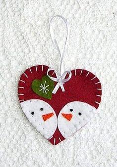 Felt christmas ornaments snowman
