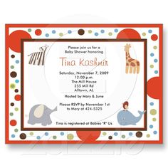 ABC Alphabet Soup Baby Shower Invitations Postcards at Zazzle.ca