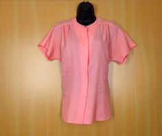Vintage Pink Pykettes Ladies Button up by TheHighwayThrifters #cute #1980s #womens #buttonup #blouse #vintageblouse now listed #forsale in our #etsyvintage shop #thehighwaythrifters #pink #vintagepink #pinkclothes #womensXL #XLBlouse #buttonupblouse #cutetop #rad #retro #XL #stripes #ootd #ig #fashion #springfashion #summerfashion