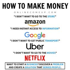 People don't want to do less and less manual things, as technology advances, they expect tech companies to solve all of their problems. If these companies succeed in solving a problem, they'll.be successful beyond belief. Business Advice, Business Entrepreneur, Business Quotes, Business Opportunities, Online Business, Online Entrepreneur, Business Money, George Carlin, How To Start A Blog