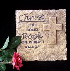 On Christ the solid Rock I stand, all other ground is sinking sand. / BIBLE IN MY LANGUAGE