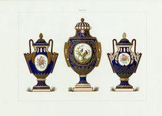 Edouard Garnier Porcelain of Sevres 1889 - Vase with Garlands, Jewelled Vase, Greek-form Vase with Garlands