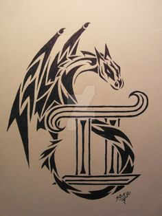 Dragon Gemini Tattoo by Lostamongstars on DeviantArt