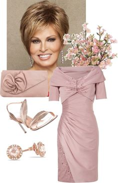 A fashion look from August 2012 featuring empire dress, beige leather sandals and pink handbags. Browse and shop related looks. Mother Of Bride Outfits, Mother Of Groom Dresses, Bride Groom Dress, Groom Outfit, Mothers Dresses, Mother Of The Bride, Wedding Attire, Wedding Bride, Wedding Ideas