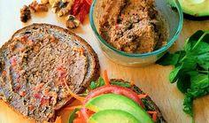 Vegan Sandwich with Walnut Veggie Spread {Recipe}