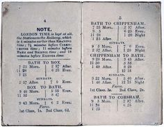 An early Great Western Railway train timetable. This new, faster transport, meant that across the country people adopted 'London time' rather than measuring time locally.
