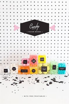 FREE Printable Candy Favor Boxes