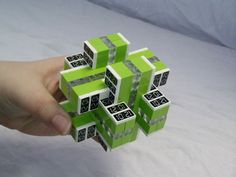 12 Piece Lego Mechanical Puzzle (Lime Time)