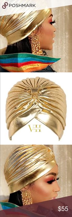 Seven Plated Head Turban Nice intriguing gold all purpose head Turban from Seven Plated. Accessories Hair Accessories
