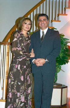 Reza Pahlavi and his mother, Empress Farah Pahlavi