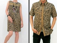 Paulin Dress with floral motifs (Batik Couple)