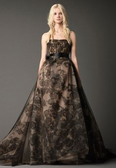 Bridal Gowns by Vera Wang | Fall 2012. I'd consider ditching the white dress for this....